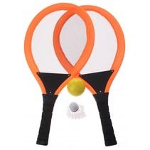 tennisset oranje 55 cm 4-delig