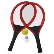 tennisset rood 55 cm 4-delig
