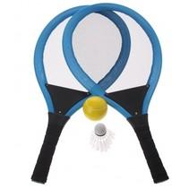 tennisset blauw 55 cm 4-delig