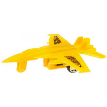 straaljager pull back jongens 10 cm geel