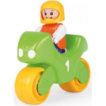 motor My First Racers junior 11 x 4 cm geel/groen