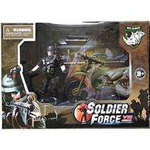 motor Soldier Force jongens legergroen 2-delig