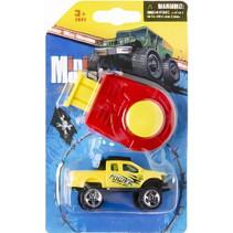 monstertruck Mini Monster jongens 8 cm geel 2-delig