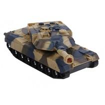 tank frictie met licht en geluid 15 cm bruin/zwart