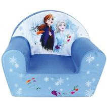 stoel Frozen junior 53 x 43 cm schuimrubber/polyester blauw