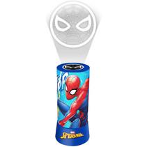 nachtlamp Spiderman jongens 9,5 x 19 cm rood/blauw