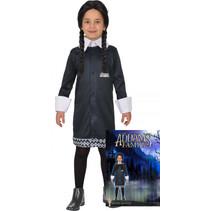 kostuum Mercoledie meisjes polyester zwart 2-delig 8-10 jaar