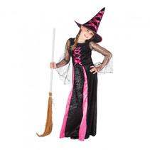 kinderkostuum Webbed Witch meisjes polyester 7-9 jaar