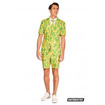 zomer-verkleedpak Sunny Yellow Cactus heren polyester