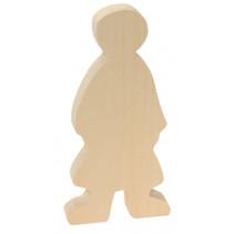 knutseldier meisje junior 15 cm hout bruin