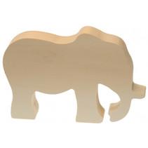 knutseldier olifant junior 15 cm hout bruin