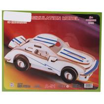 legpuzzel Porsche junior 21 x 17 cm hout blauw/wit 23 stukjes