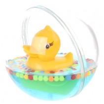 waterbal met badeend 12 cm transparant