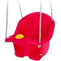 babyschommelzitje met touw 30 cm rood
