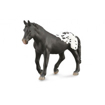 paard Sugarbush junior 15 cm rubber zwart