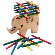 evenwichtsspel olifant hout