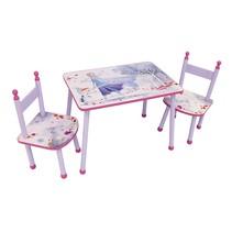 tafel met stoelen Frozen meisjes roze 3-delig