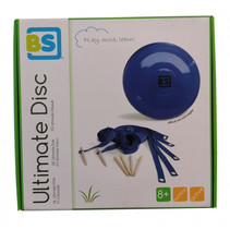 frisbeeset Ultimate Disk hout blauw 8-delig