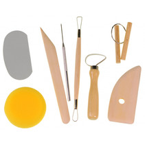 pottenbak gereedschap junior hout/staal bruin/grijs