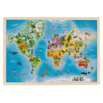 legpuzzel wereldkaart hout 192-delig