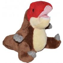 knuffel NHM T-rex 8 cm pluche bruin