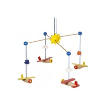 mobiel Vliegtuigen hout junior 31 x 20,5 cm