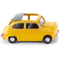 miniatuurauto Fiat 600 die-cast zink 1:87 geel
