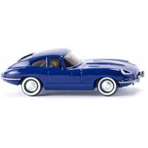 miniatuurauto Jaguar E-Type Coupé die-cast zink 1:87 blauw