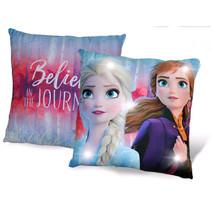 kussen met led Frozen 2 meisjes 40 x 40 cm polyester