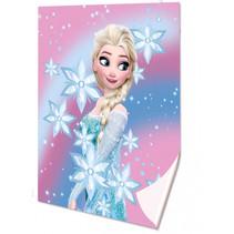 fleecedeken Frozen 160 x 130 cm polyester roze/blauw