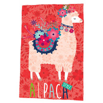 fleecedeken Alpaca junior 150 x 100 cm polyester rood