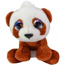knuffel Panda Toto junior 15 cm pluche bruin/wit