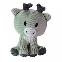 knuffel Reindeer Milo junior 15 cm corduroy grijs