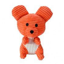 knuffel Mouse Piip junior 15 cm corduroy oranje
