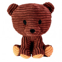 knuffel Bear Teddy junior 15 cm corduroy bruin