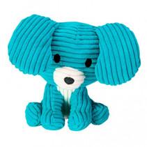 knuffel Dog Max junior 15 cm corduroy blauw