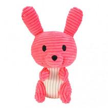 knuffel Bunny Neela junior 15 cm corduroy roze