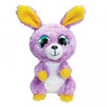 knuffel Bunny Lila junior 15 cm pluche paars/geel