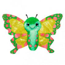 knuffel Butterfly Hope junior 15 cm pluche groen/geel