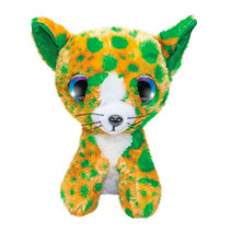 knuffel Cat Catsy junior 15 cm pluche groen/oranje