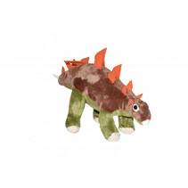 knuffel NHM Stegosaurus 48 cm pluche bruin