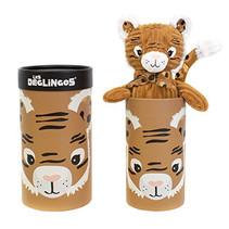 knuffel tijger in doos junior 33 cm pluche bruin