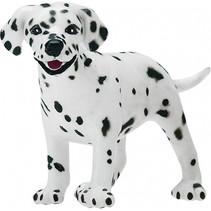 Dalmatiër puppy junior 7 cm rubber zwart/wit