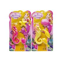 zeepaardset meisjes geel/roze 4-delig