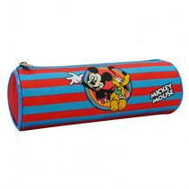 etui Mickey & Pluto junior 22 x 7 cm polyester blauw/rood