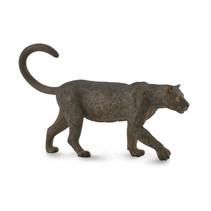wilde dieren luipaard junior 12,7 cm rubber zwart