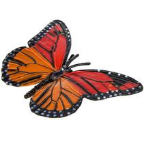 monarchvlinder junior 9 cm oranje/rood/zwart
