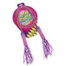 springtouw met pompoms meisjes 210 cm paars