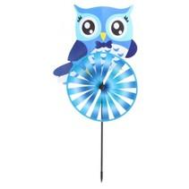 windmolen uil 60 cm blauw