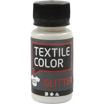 textielverf Glitter 50 ml primair wit